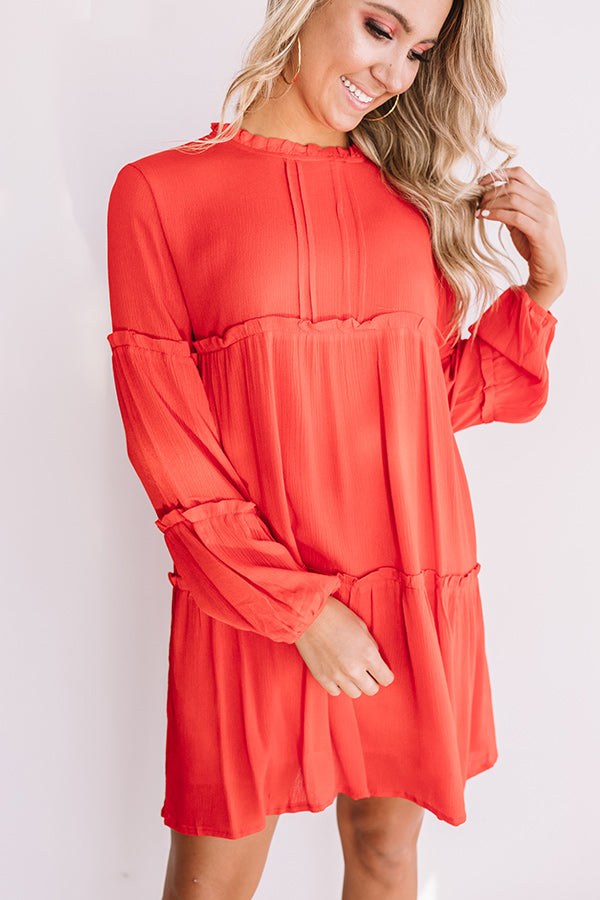 Style Above The Rest Shift Dress In Scarlet