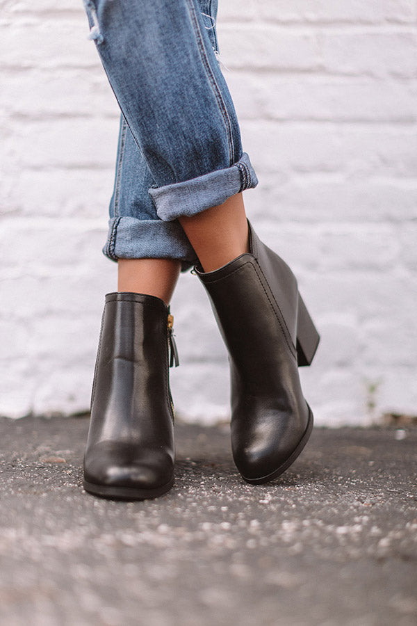 The Nellie Faux Leather Bootie