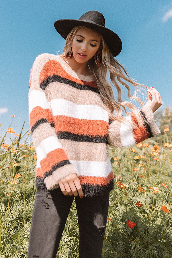 Chill Times At The Cabin Stripe Sweater