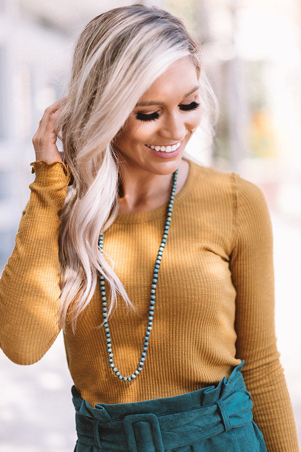 Dainty Glam Beaded Necklace