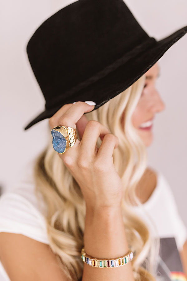Chic Sway Druzy Ring In Blue