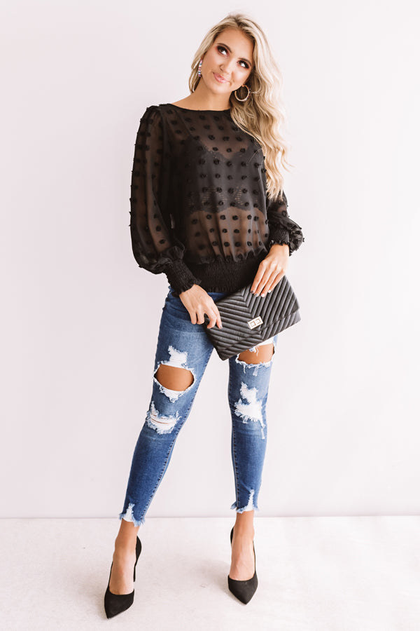 Cocktails And Cuties Shift Top In Black
