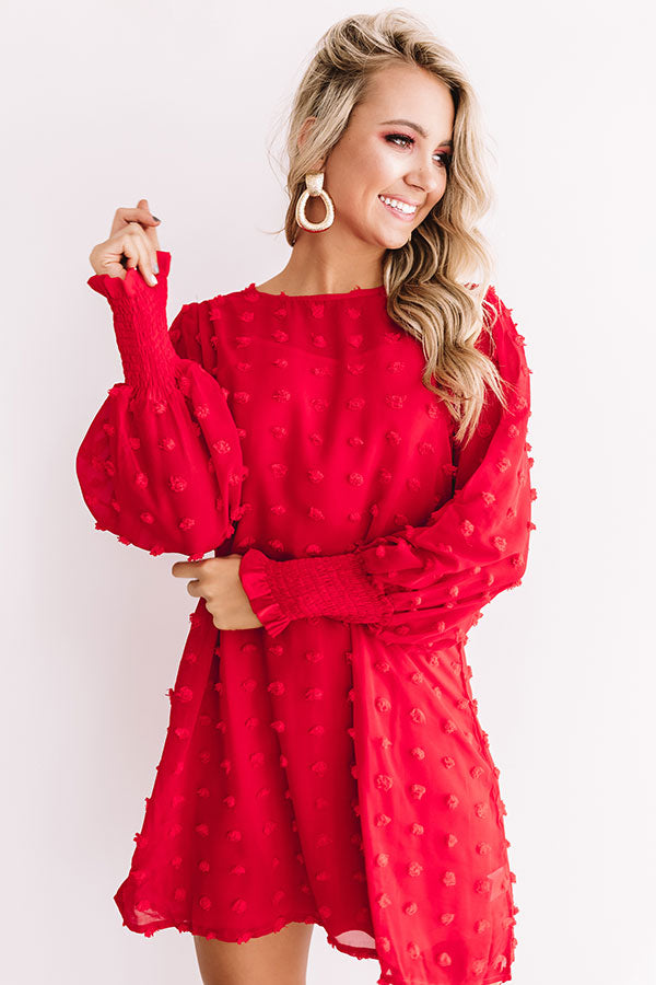 Cocktails And Cuties Shift Dress In Red