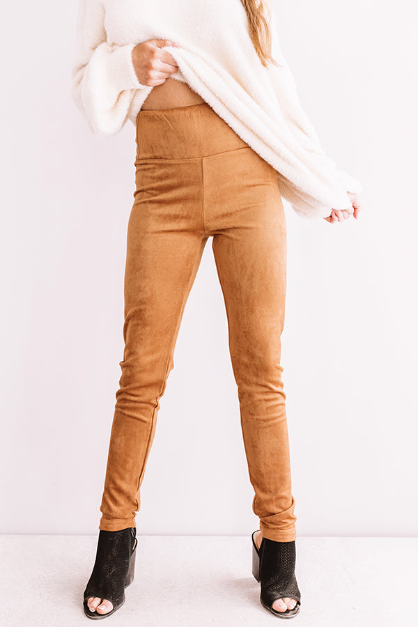 The Shepard Faux Suede Legging In Camel