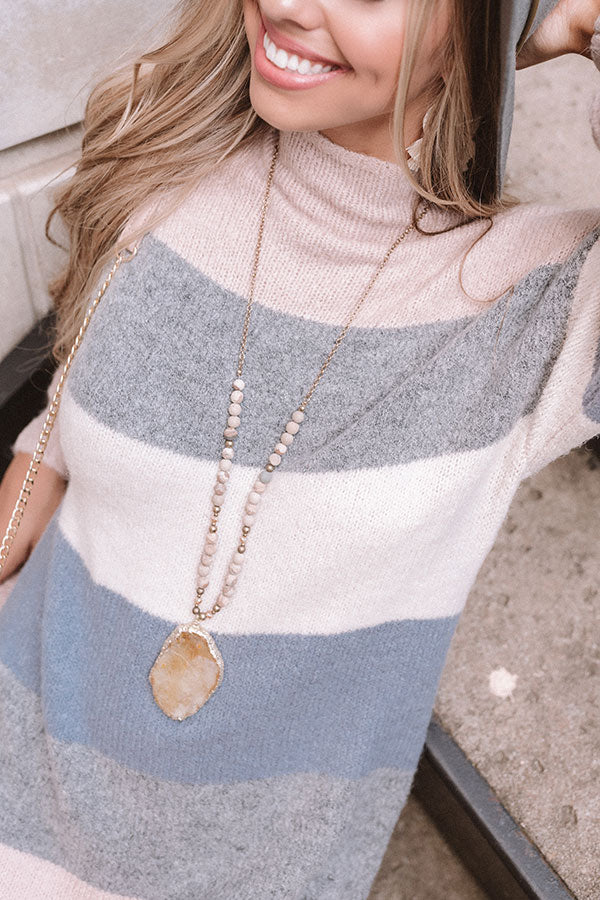 Style Above The Rest Druzy Necklace