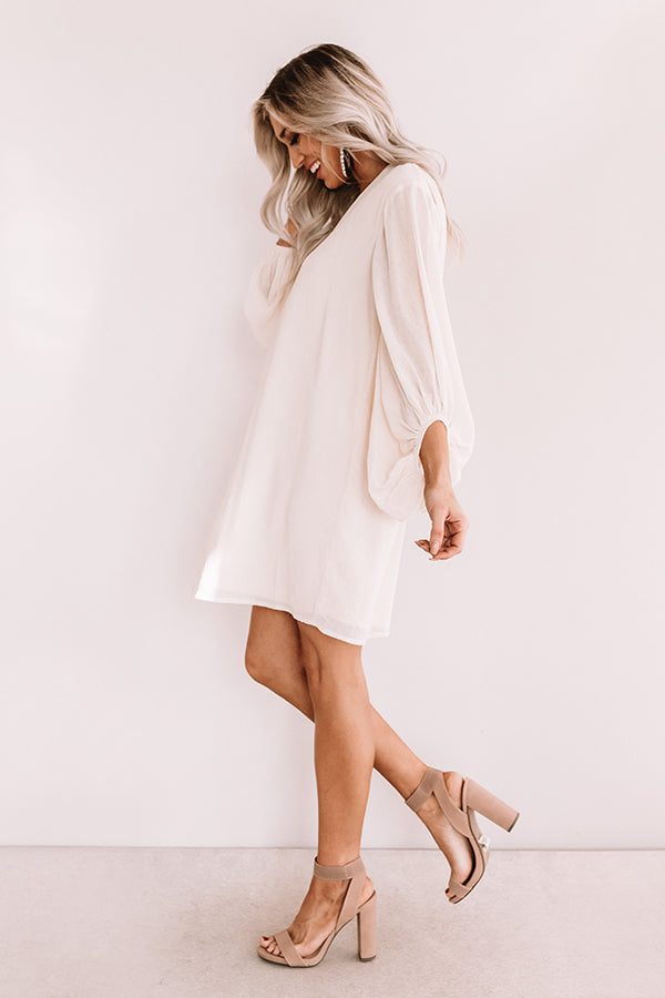 Date Night Out Shift Dress In Cream