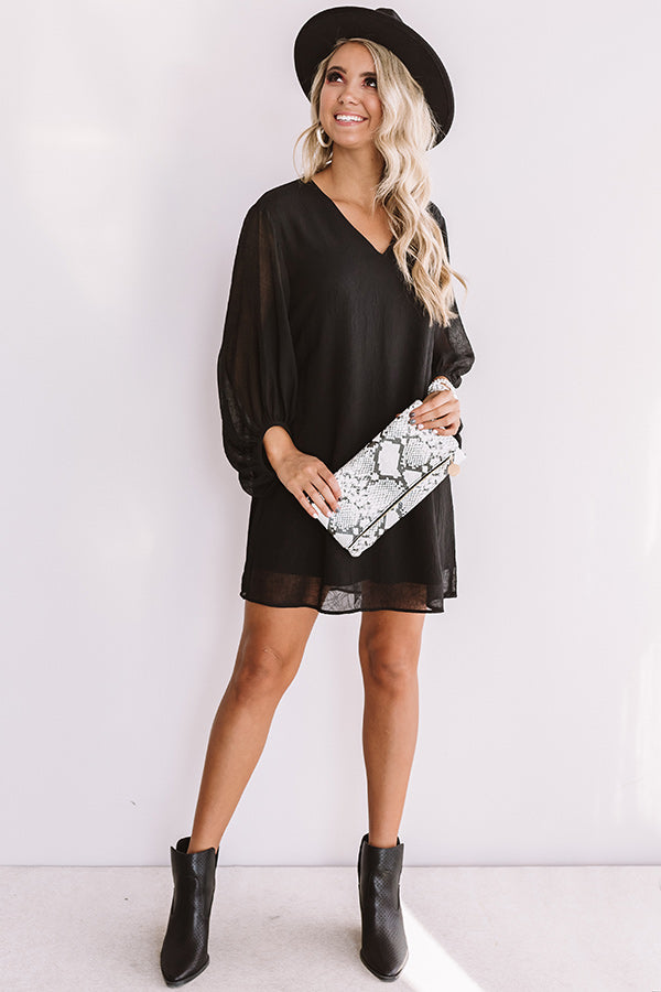 Date Night Out Shift Dress In Black