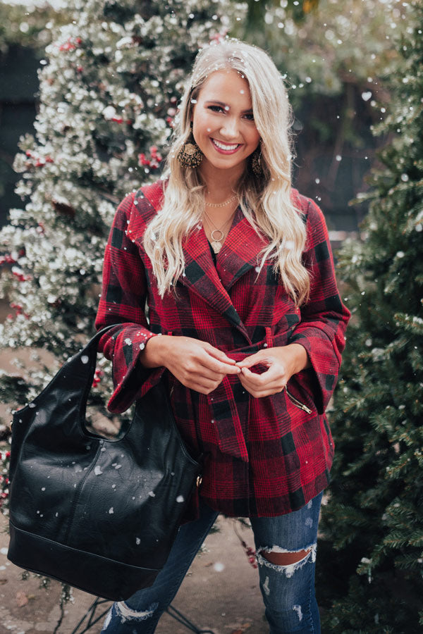 Season Of Chic Buffalo Check Coat