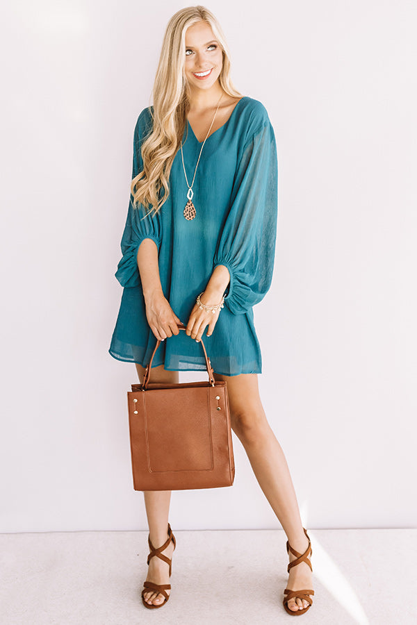 Date Night Out Shift Dress In Teal