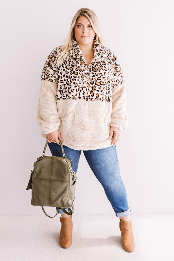 Sweet And Snuggly Leopard Pullover