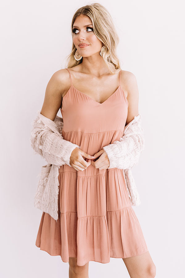 Weekend In The Hamptons Babydoll Dress in Light Rustic Rose