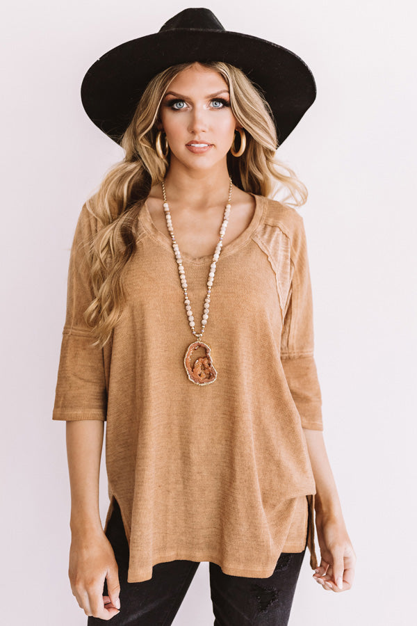 Simply Glowing Shift Top In Golden Honey