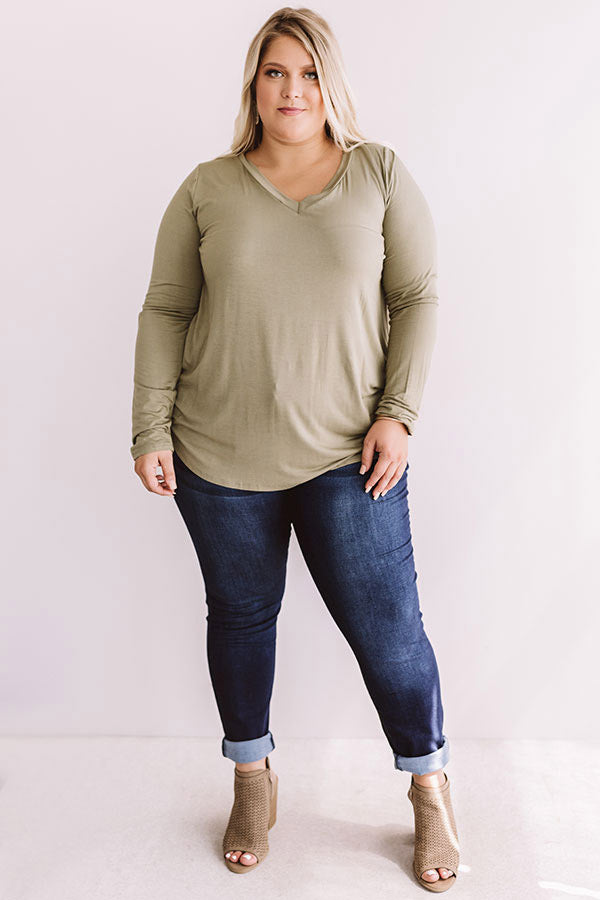 Sweet And Lovely Shift Top in Sage