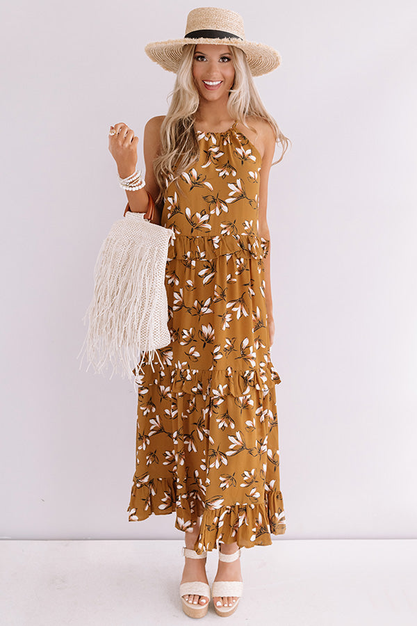 Napa Valley Vacay Floral Maxi Dress