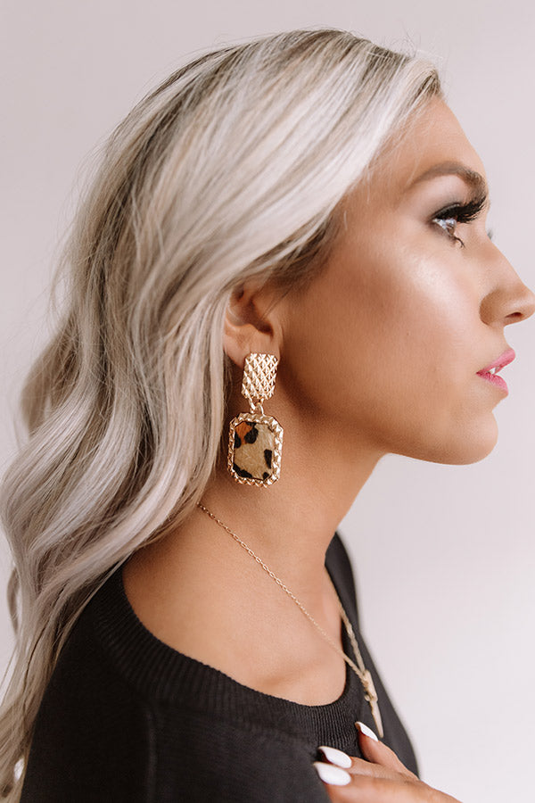 Private Jets Only Earrings In Leopard