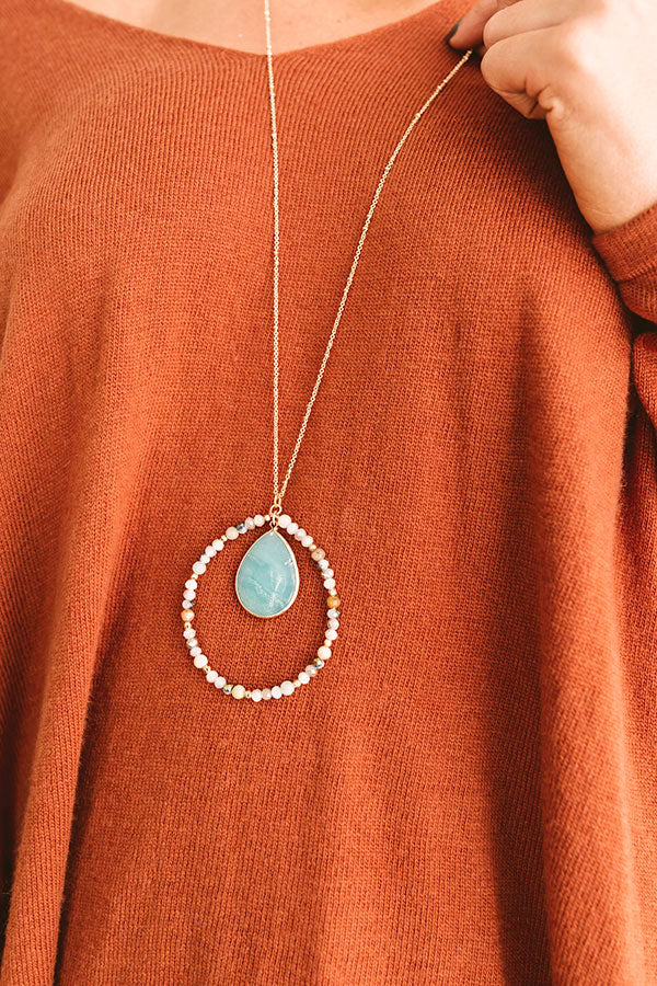 Social Debut Necklace In Ocean Wave