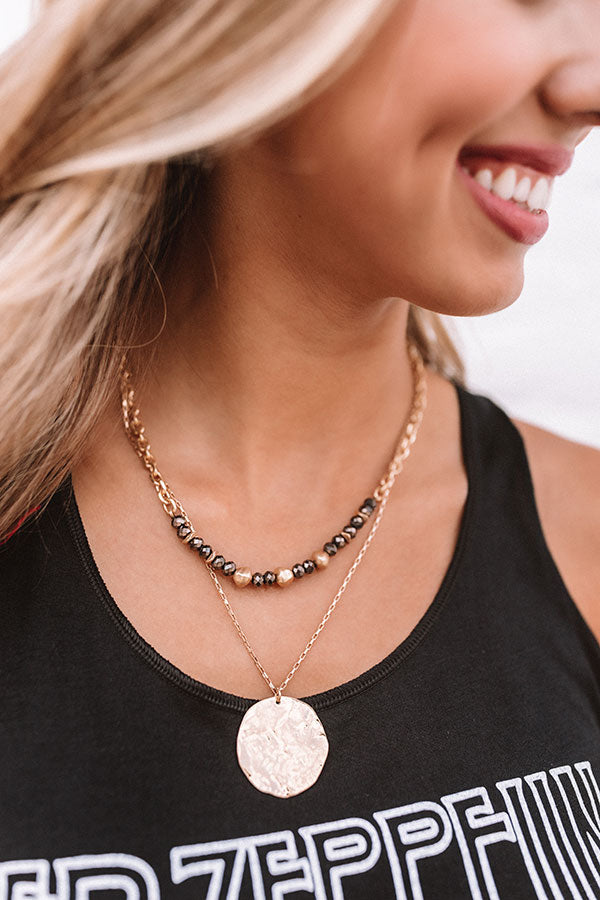 Soho Flow Necklace In Black