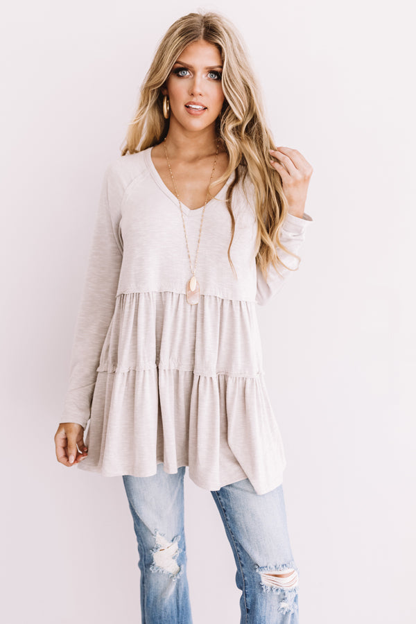 See You In Sonoma Shift Tunic In Grey