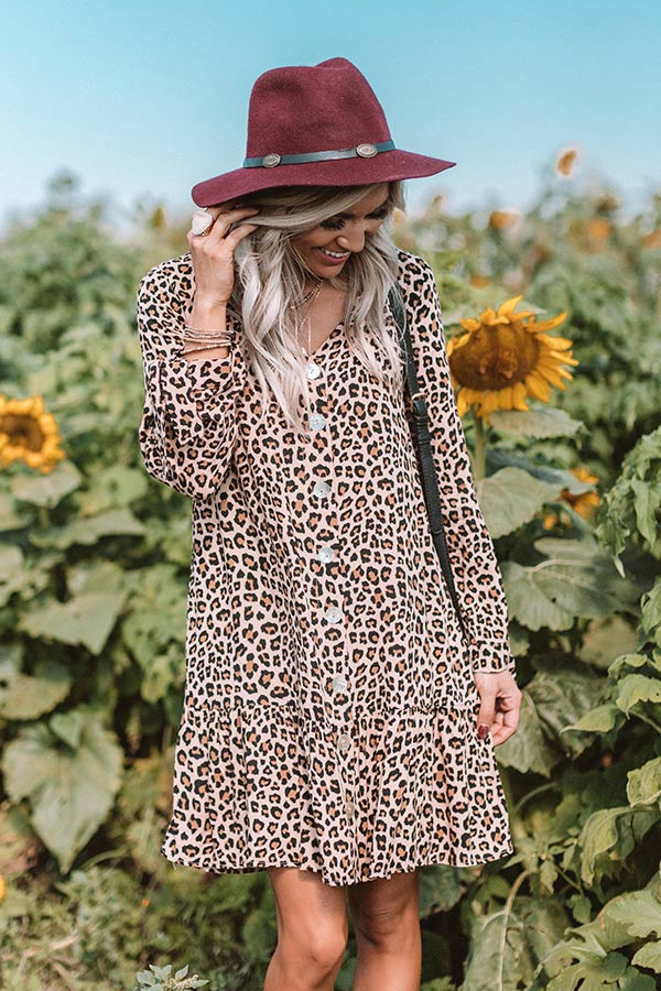 Bubbly Babe Leopard Shift Dress