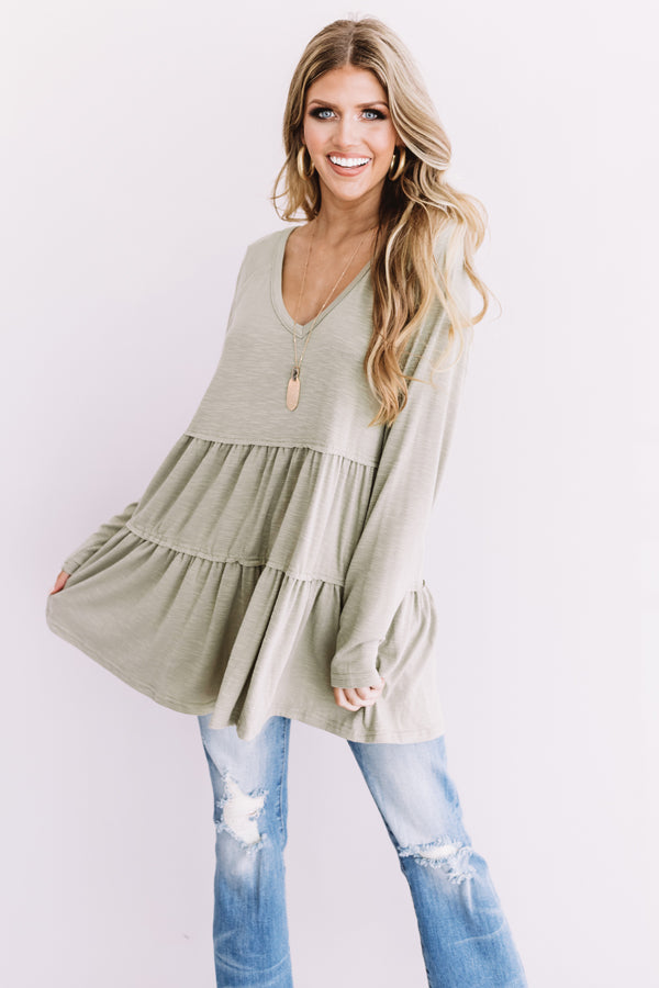 See You In Sonoma Shift Tunic In Pear