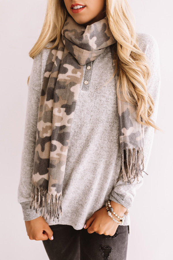 Camo Retreat Fringe Scarf