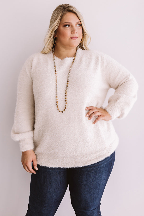 Cozy Weekend Ultra Soft Sweater in Iced Latte