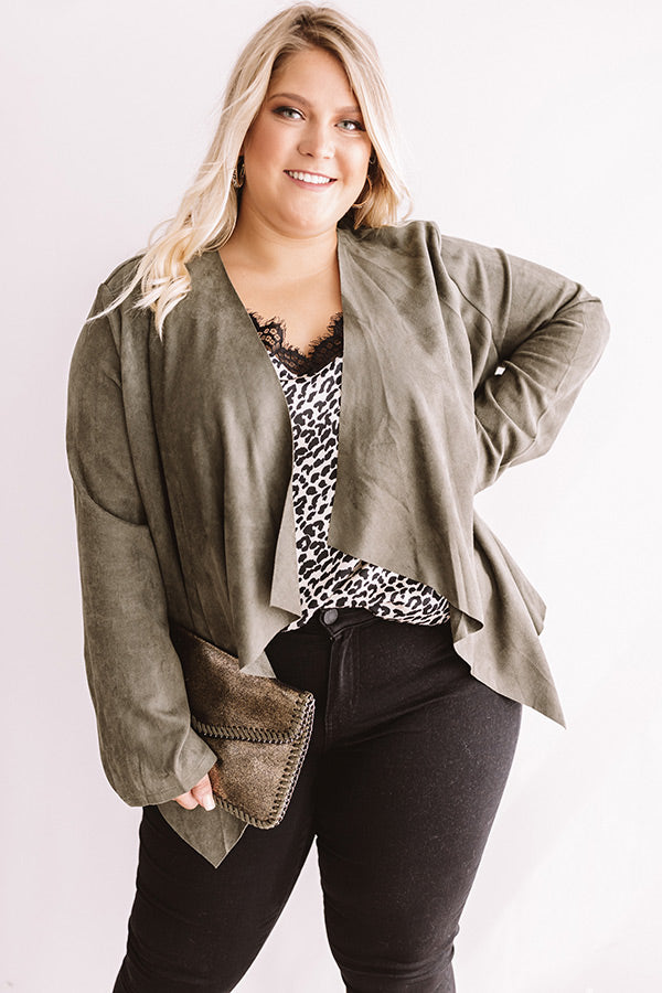 Nashville Night Out Faux Suede Blazer