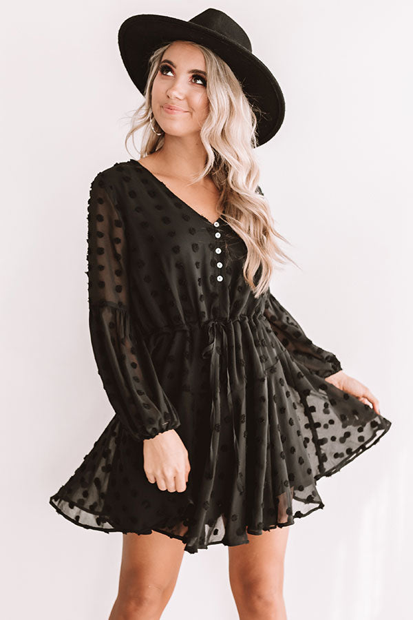 Dreaming Of Paris Shift Dress In Black