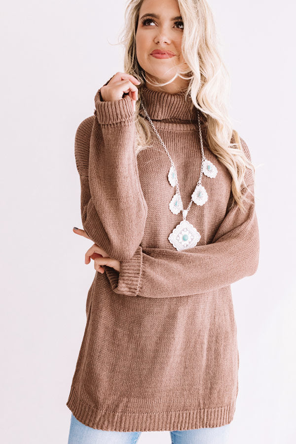 Fallin' For Autumn Knit Sweater In Brown