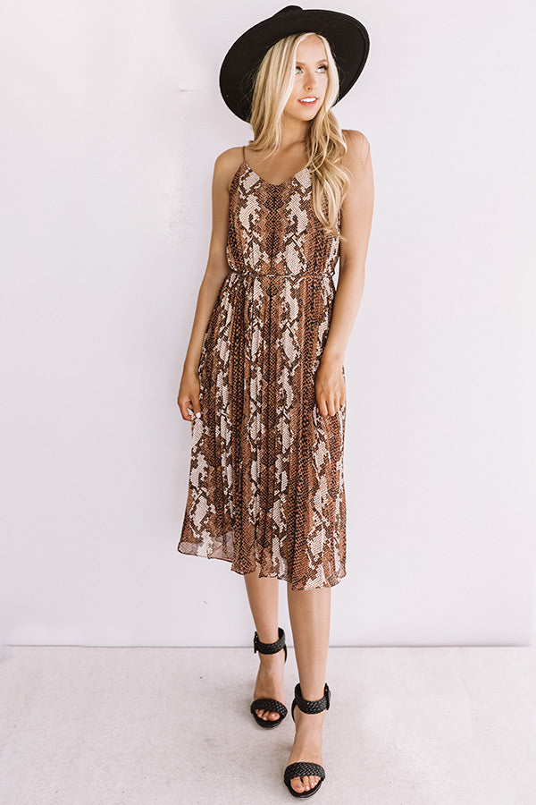 New Dress, Who Dis? Snake Print Midi