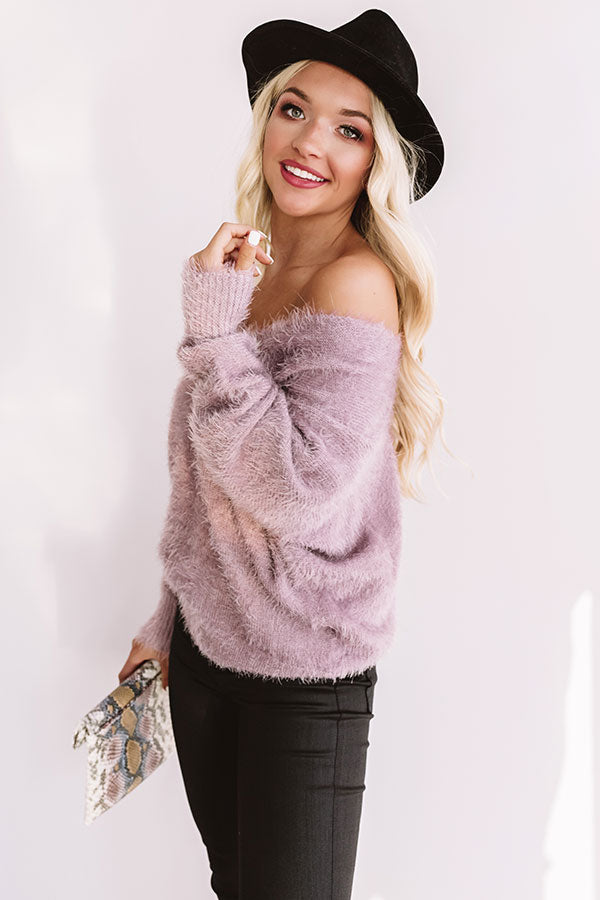 Cuddles In Cali Ultra Soft Sweater In Lavender