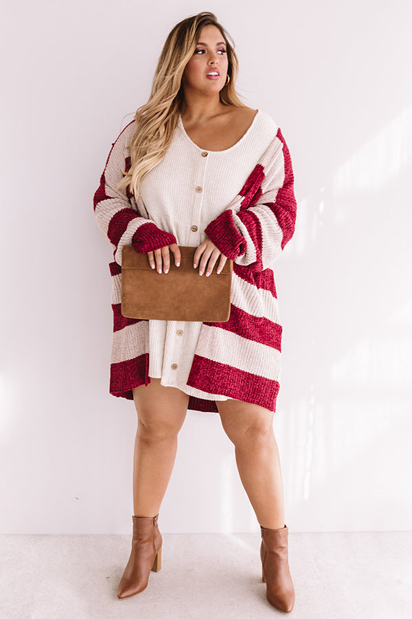 Sweetest Of All Stripe Chenille Cardigan