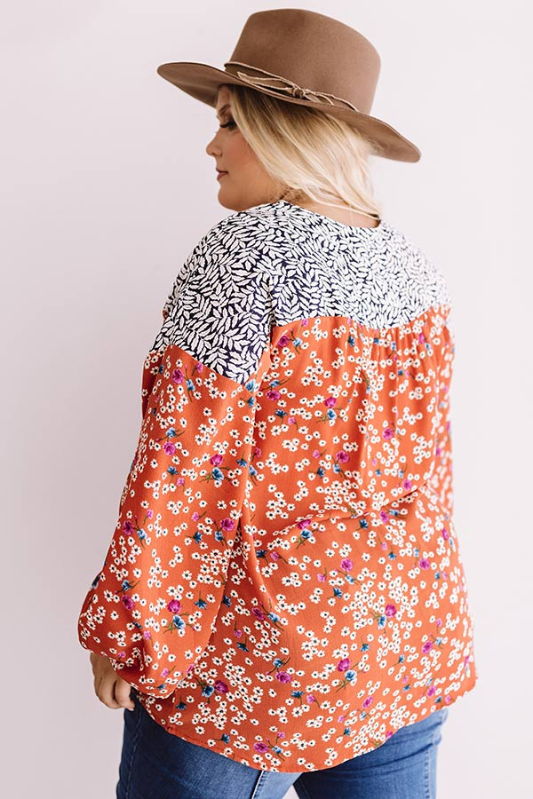 Afternoon Tea Time Floral Shift Top