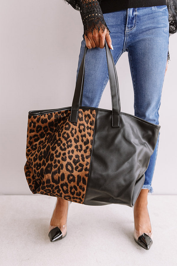 New Views Faux Leather Tote