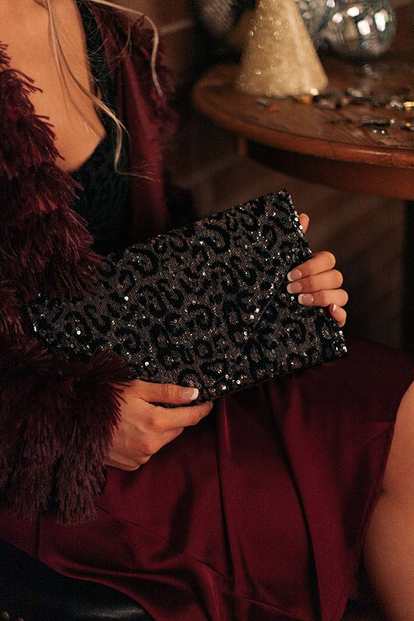 Ritz And Glitz Sequin Clutch