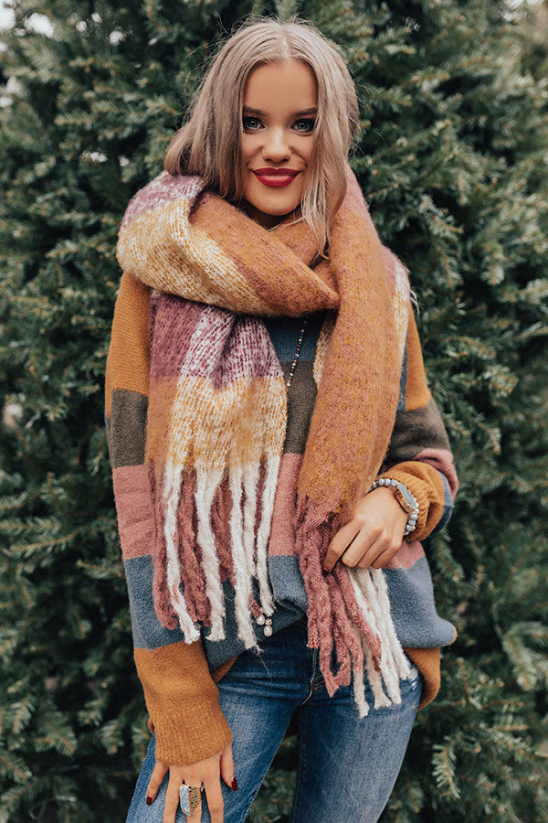 Bundled Up Beauty Scarf In Blush
