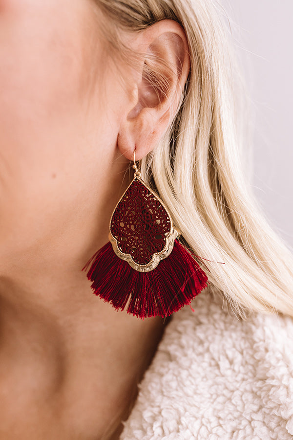 The Charmed Life Earrings In Wine