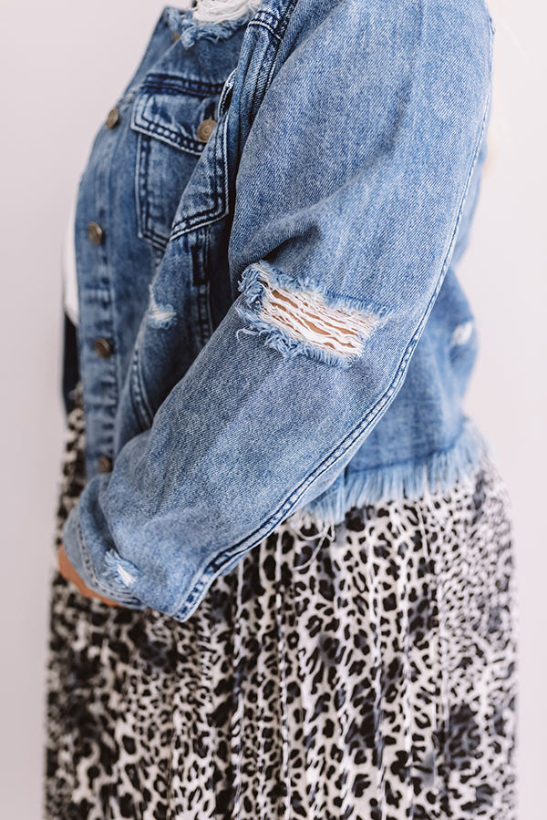 The Danielle Distressed Denim Jacket