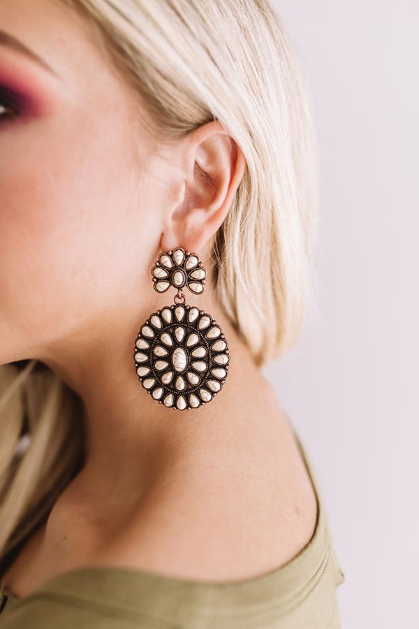 Southern Sweetheart Earrings In Cream