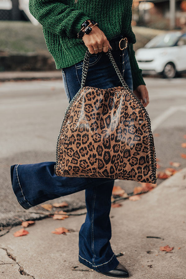 All Eyes On You Leopard Tote