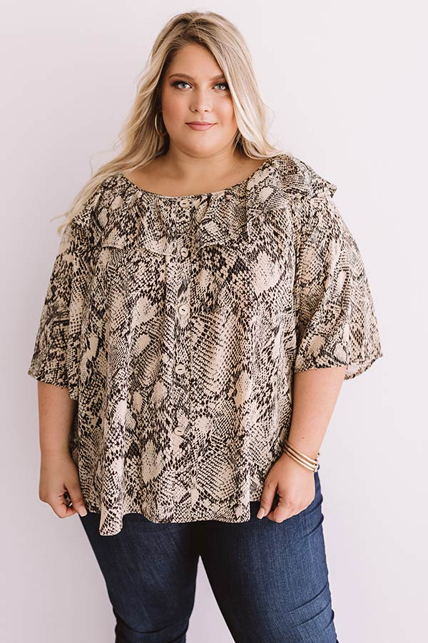Boss Lady Snake Print Top