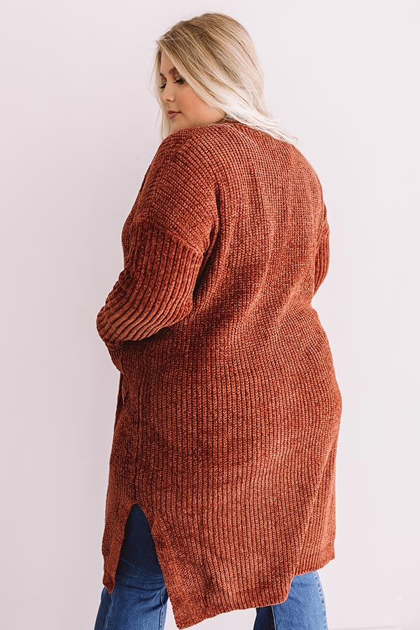 Girls Of Fall Chenille Cardigan