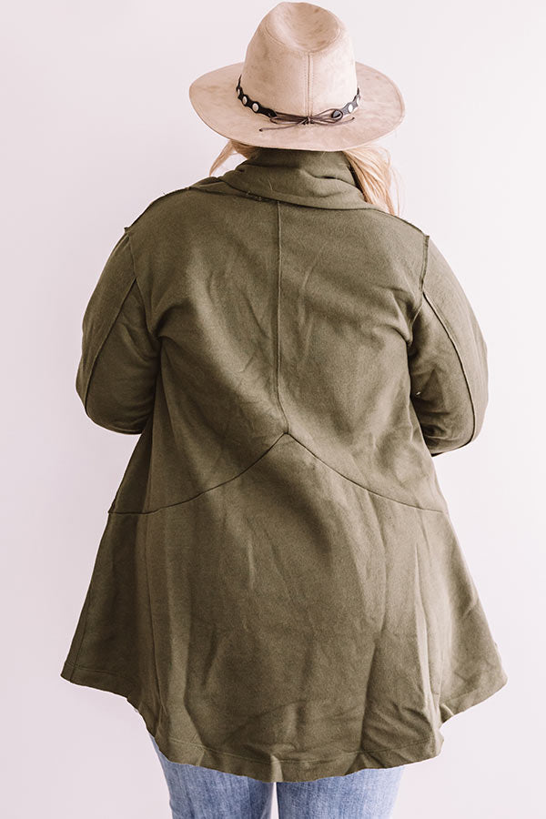 Strut The Streets Jacket In Olive