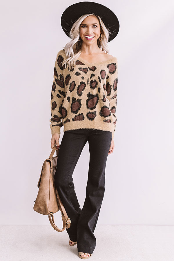 Sweet Dreams Are Made Of Snuggles Leopard Sweater
