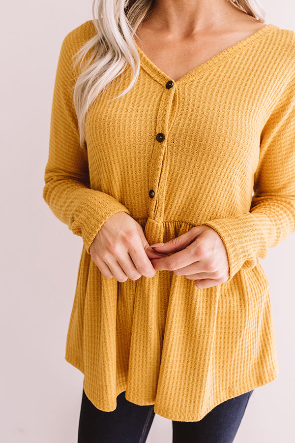 Perfect Places Waffle Knit Top