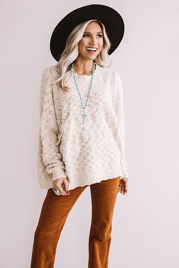 Sweet Dreaming Knit Sweater In Stone