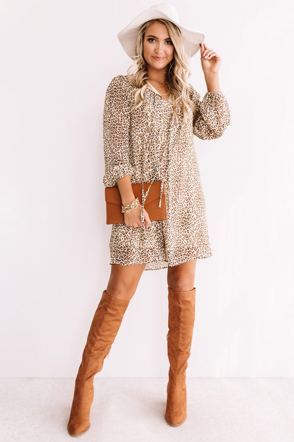 Party Perfection Leopard Shift Dress