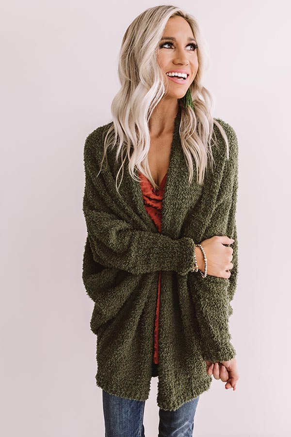 From Sunrise To Sunset Cardigan In Olive