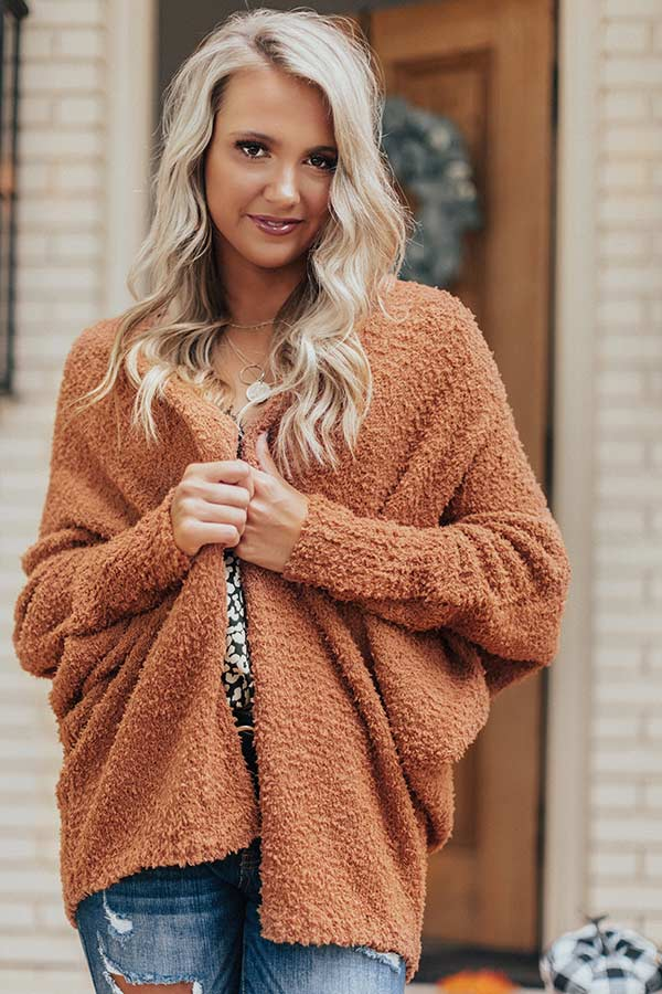 From Sunrise To Sunset Cardigan In Camel