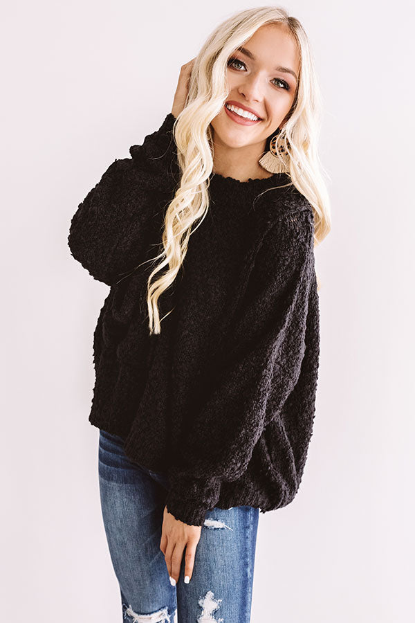 Sweet Dreaming Knit Sweater In Black